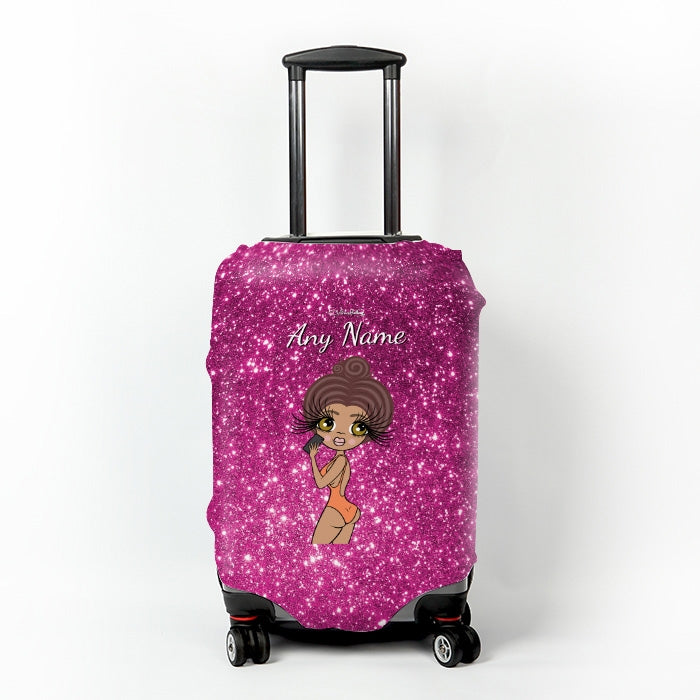 ClaireaBella Selfie Glitter Effect Suitcase Cover - Image 1