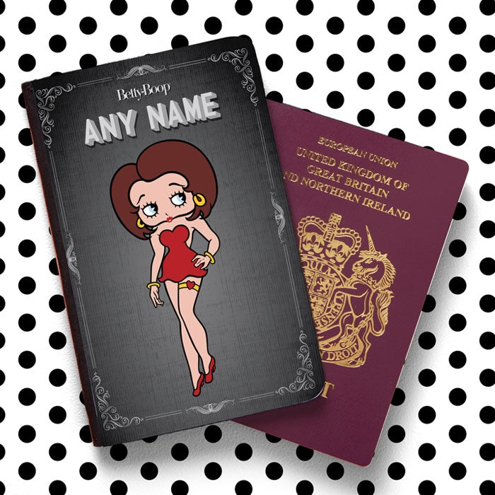 Betty Boop Vintage Film Passport Cover - Image 1