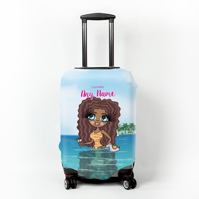 ClaireaBella Seaside Cocktails Suitcase Cover - Image 1