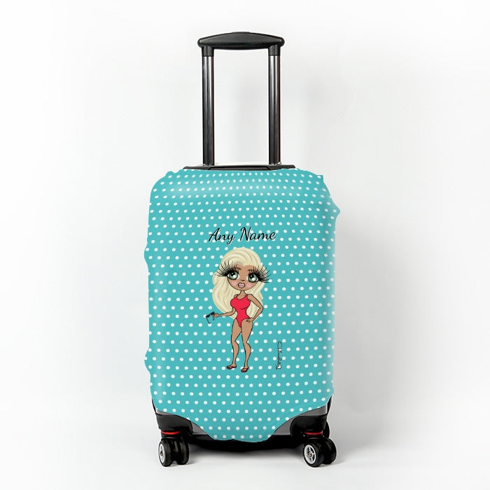 ClaireaBella Polka Dot Suitcase Cover - Image 1