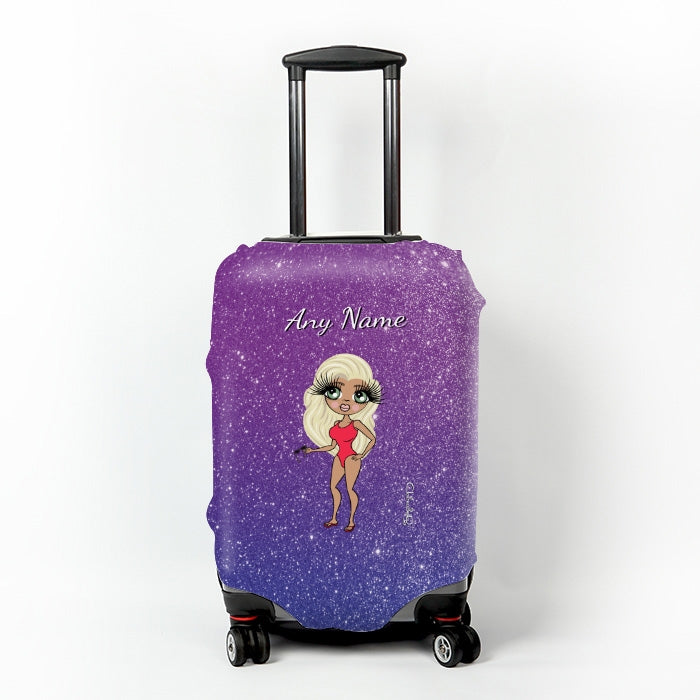 ClaireaBella Ombre Glitter Effect Suitcase Cover - Image 1