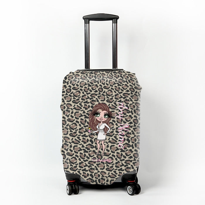 ClaireaBella Leopard Print Suitcase Cover - Image 1