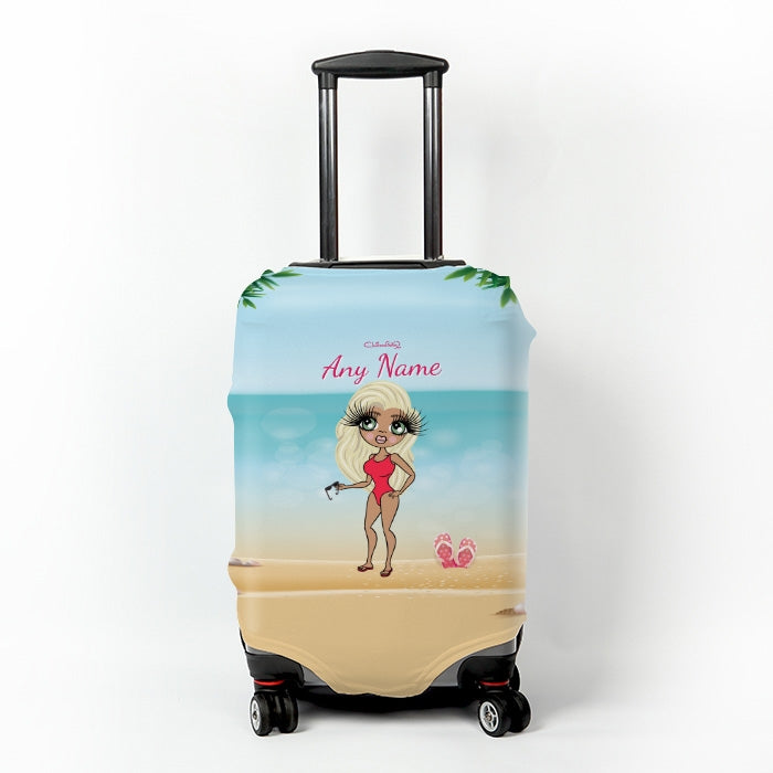 ClaireaBella Beach Print Suitcase Cover - Image 1