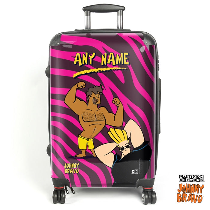 Johnny Bravo Guys Disco Stripes Suitcase - Image 1
