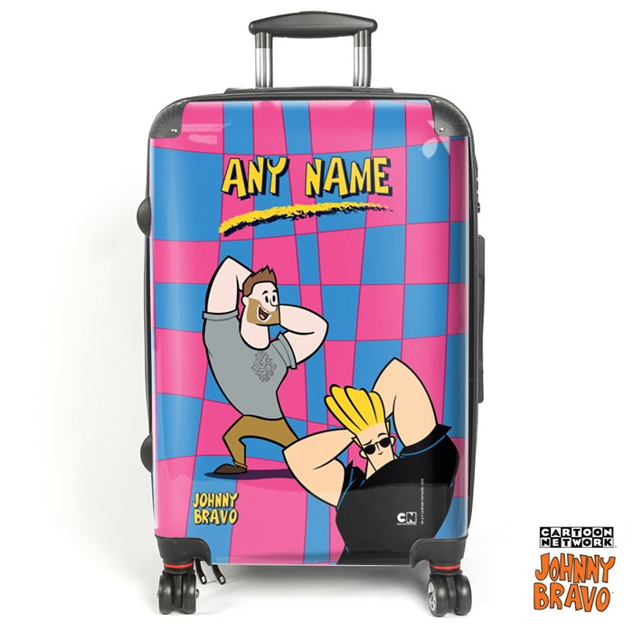 Johnny Bravo Guys Disco Squares Suitcase - Image 1