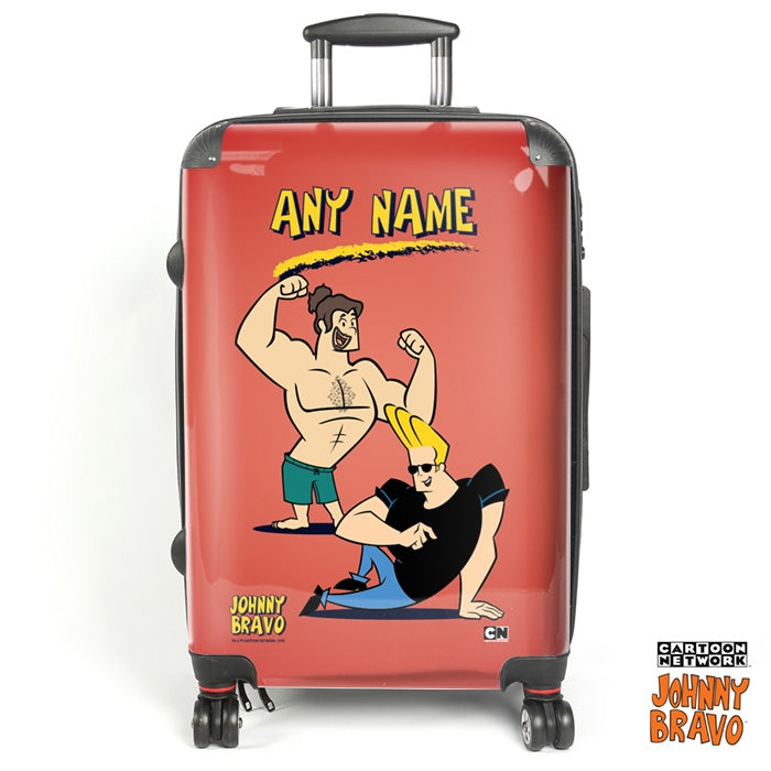 Johnny Bravo Guys Red Suitcase - Image 1