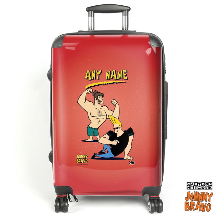 Johnny Bravo Guys Distressed Red Suitcase - Image 1