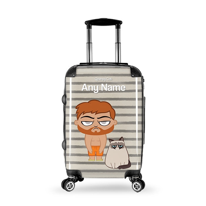 Grumpy Cat Stripe Suitcase - Image 3
