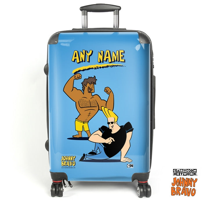 Johnny Bravo Guys Blue Suitcase - Image 1