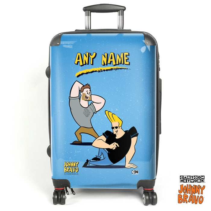 Johnny Bravo Guys Distressed Blue Suitcase - Image 1
