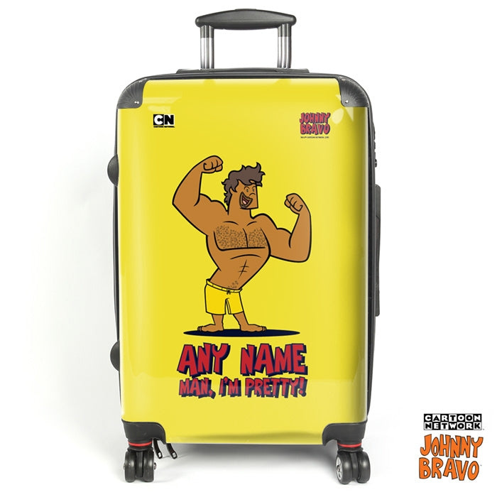 Johnny Bravo Guys Bold Yellow Suitcase - Image 1