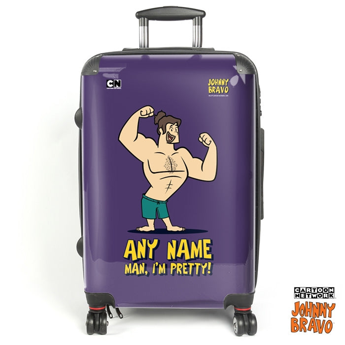 Johnny Bravo Guys Bold Purple Suitcase - Image 1