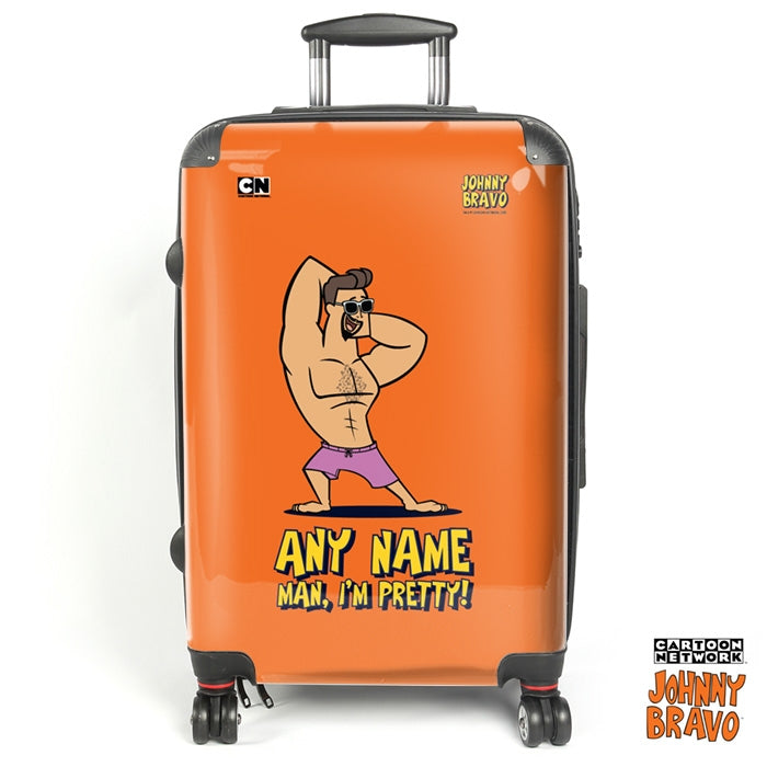 Johnny Bravo Guys Bold Orange Suitcase - Image 1