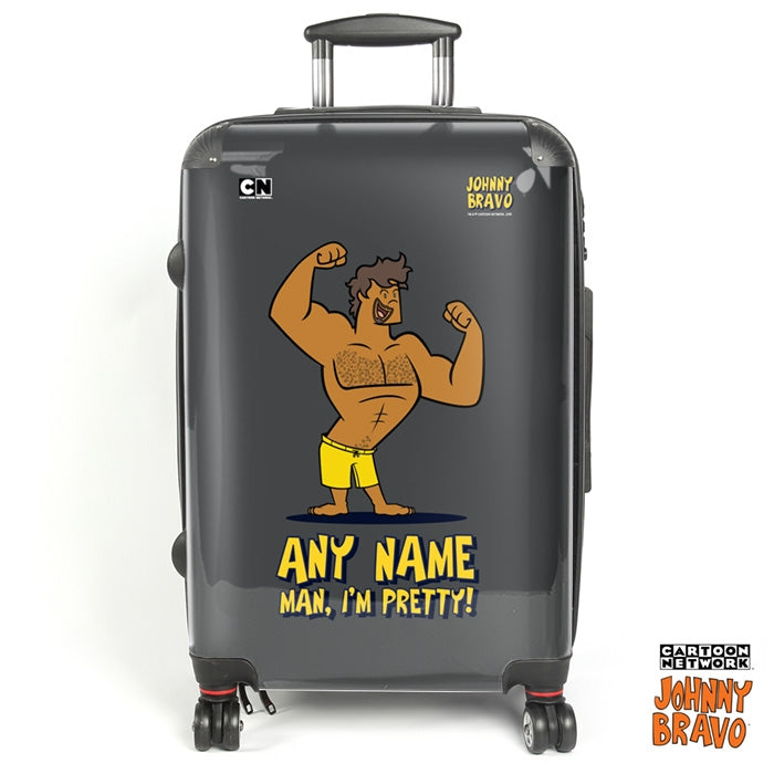Johnny Bravo Guys Bold Grey Suitcase - Image 1