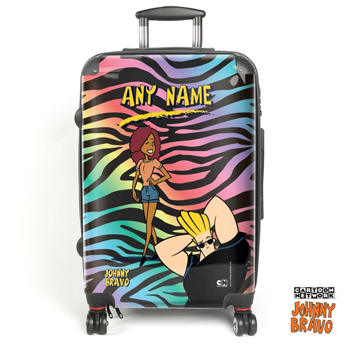 Johnny Bravo Ladies Zebra Print Vibes Suitcase - Image 1