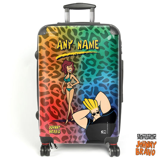 Johnny Bravo Ladies Leopard Print Vibes Suitcase - Image 1
