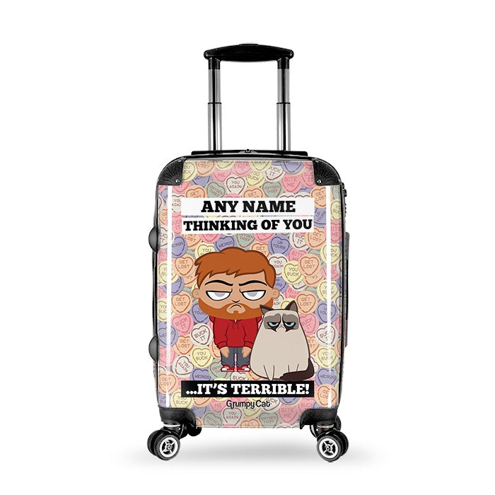 Grumpy Cat Lovehearts Suitcase - Image 7