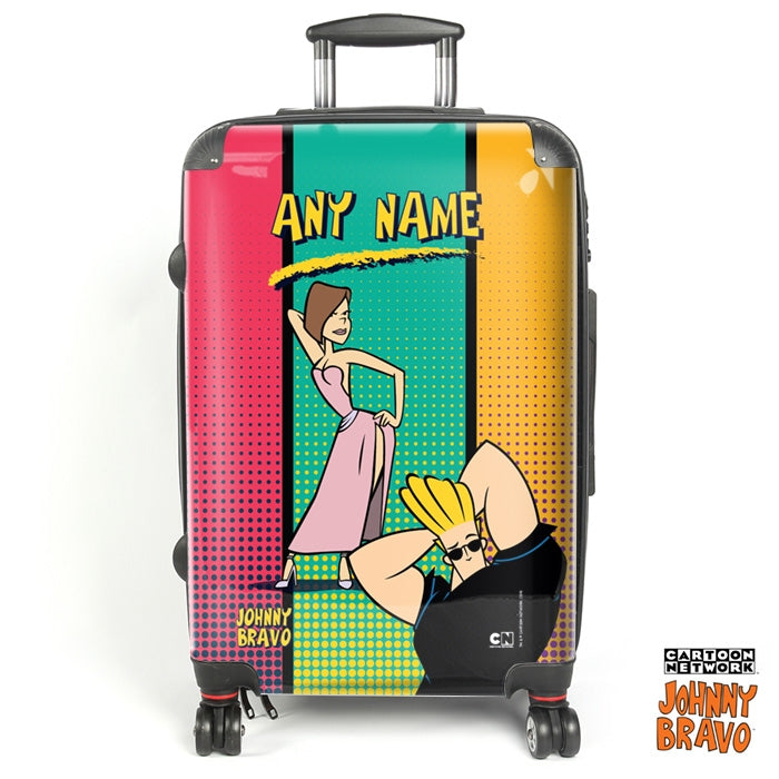 Johnny Bravo Ladies Retro Stripes Suitcase - Image 1