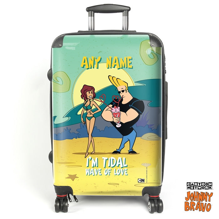 Johnny Bravo Ladies Green Tidal Wave Suitcase - Image 1