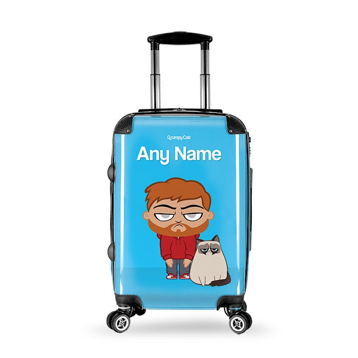Grumpy Cat Blue Suitcase - Image 1