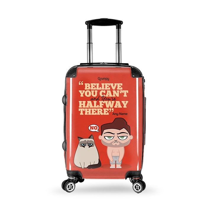 Grumpy Cat Believe Suitcase - Image 1