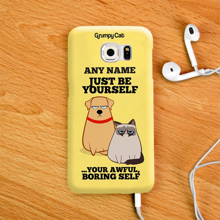 Grumpy Cat Be Yourself Phone Case - Image 4