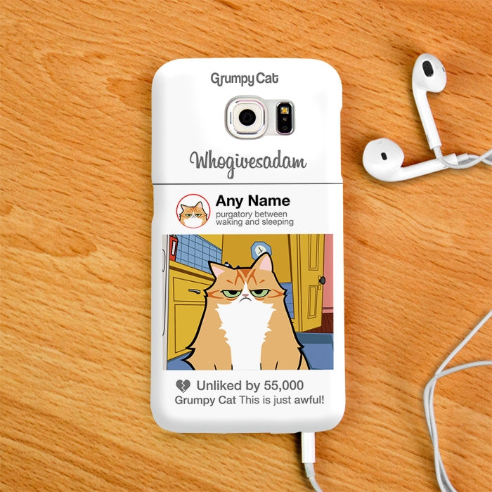 Grumpy Cat Whogivesadam Phone Case - Image 4