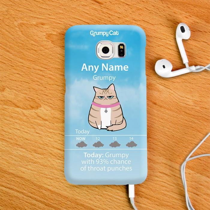 Grumpy Cat Weather Phone Case - Image 4