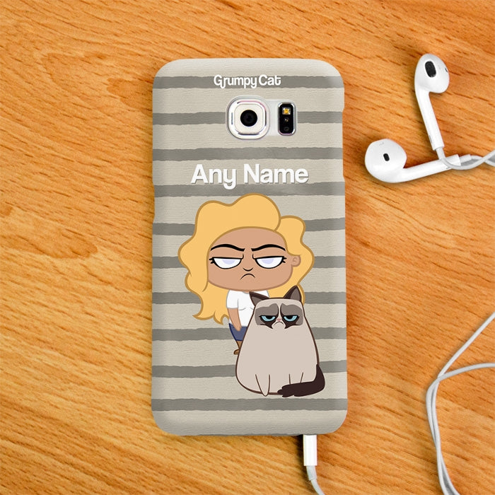 Grumpy Cat Stripe Phone Case - Image 1