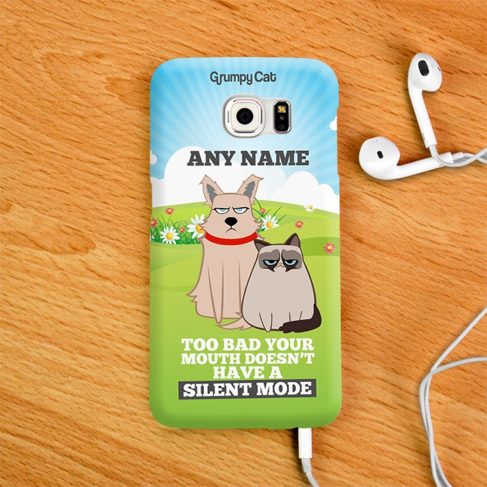 Grumpy Cat Silent Mode Phone Case - Image 3