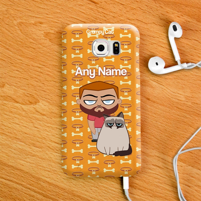 Grumpy Cat Bone Collar Phone Case - Image 3