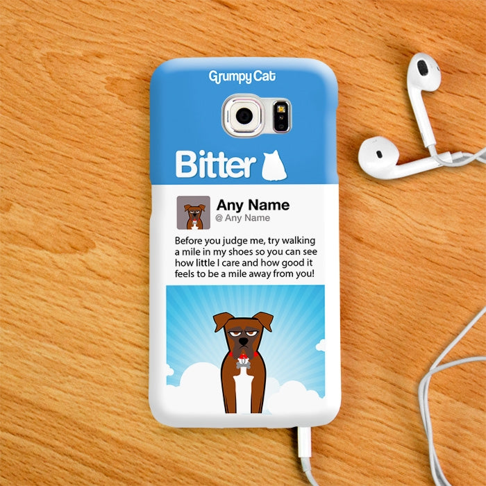 Grumpy Cat Bitter Phone Case - Image 4