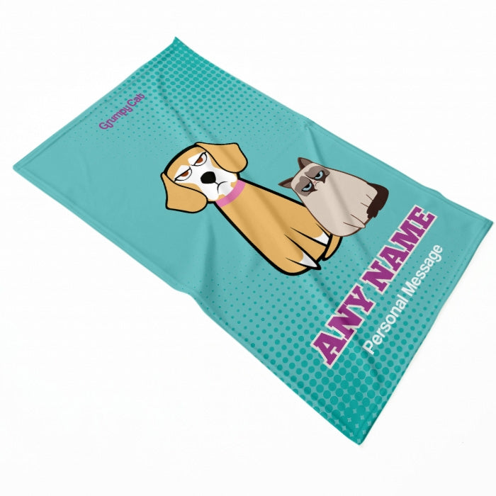 Grumpy Cat Mint Pet Blanket - Image 1