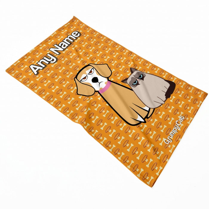 Grumpy Cat Bone Collar Pet Blanket - Image 2