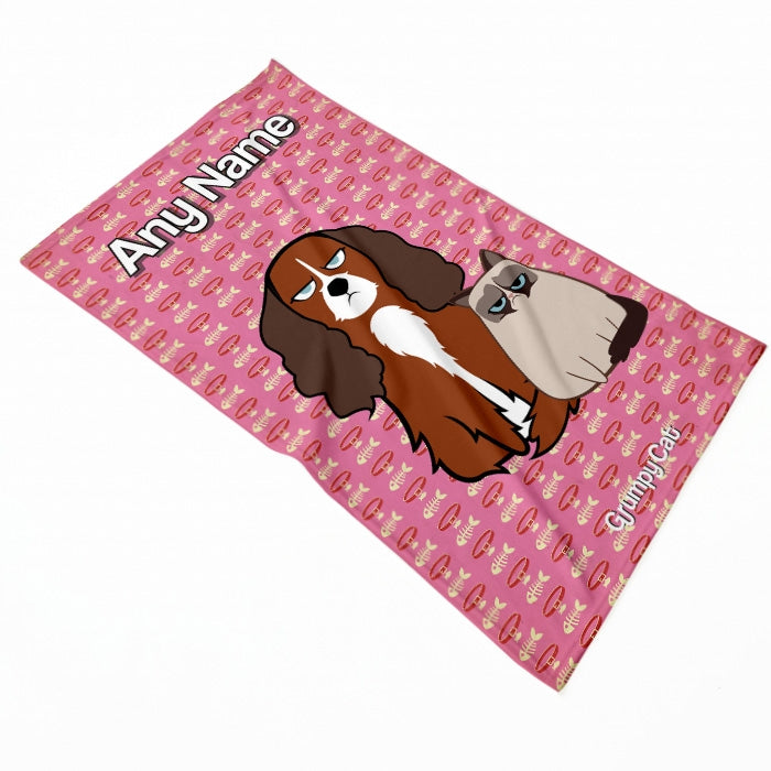 Grumpy Cat Fish Collar Pet Blanket - Image 1