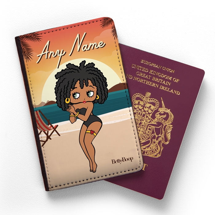 Betty Boop Sunset Beach Passport Cover - Image 1