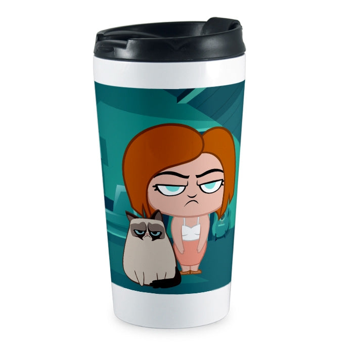 Grumpy Cat Rise And Shine Travel Mug - Image 1