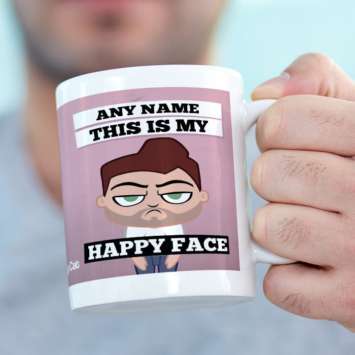 Grumpy Cat Happy Face Mug - Image 2