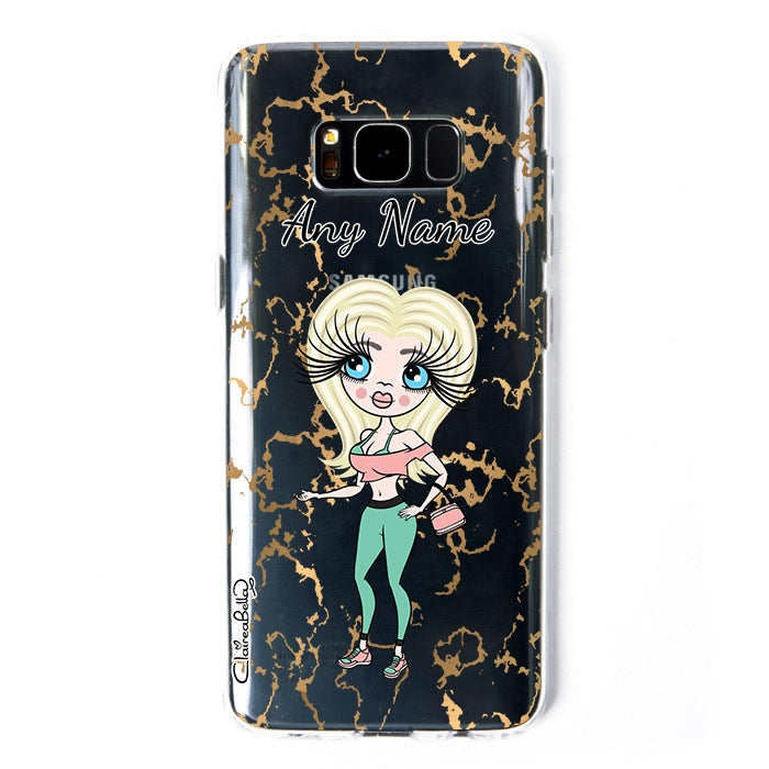 ClaireaBella Marble Print Clear Soft Gel Phone Case - Image 2