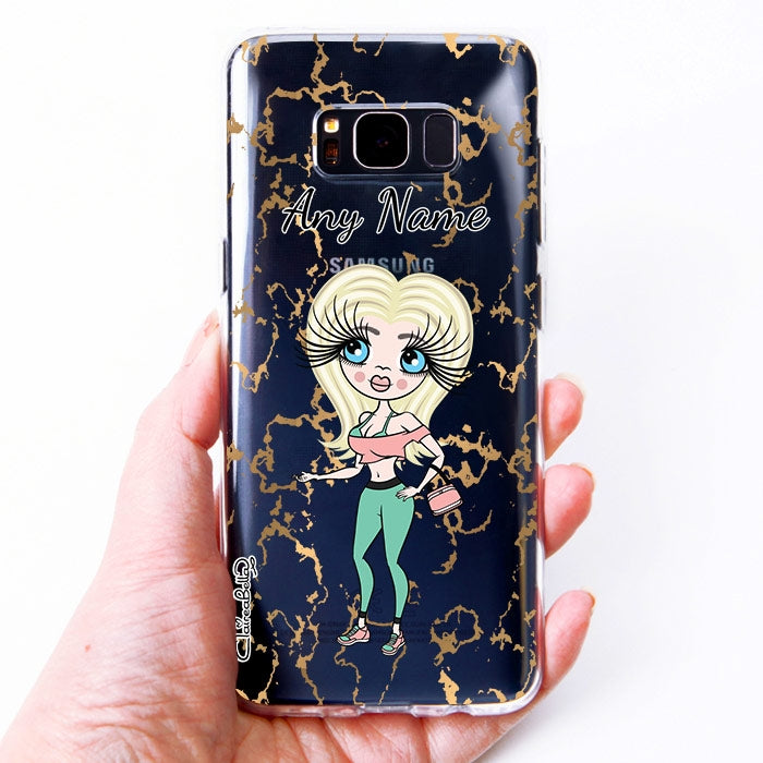 ClaireaBella Marble Print Clear Soft Gel Phone Case - Image 3