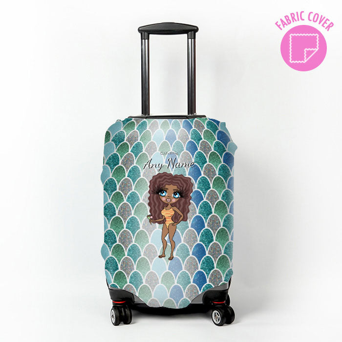 ClaireaBella Mermaid Glitter Effect Suitcase Cover