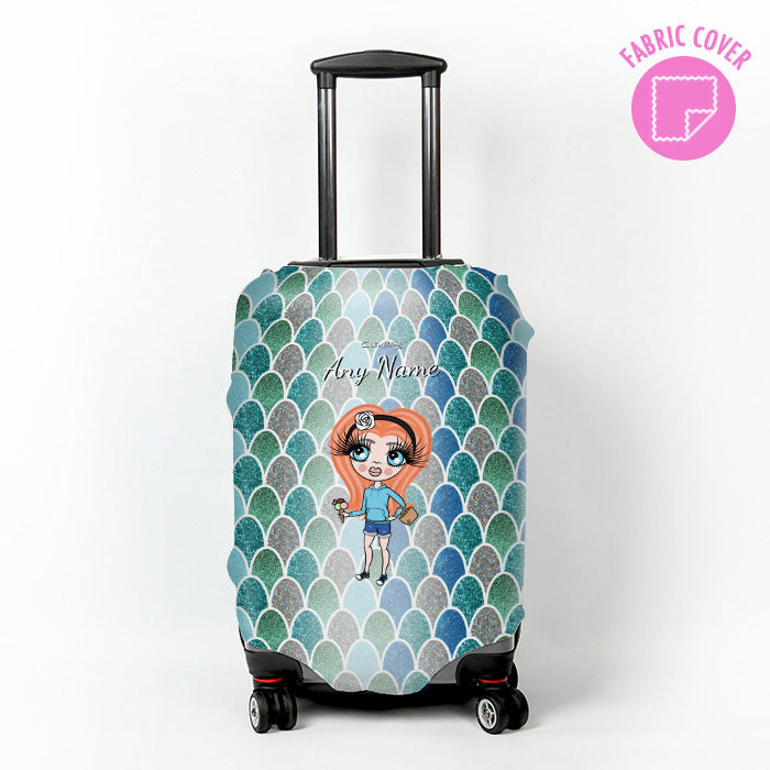 ClaireaBella Girls Mermaid Glitter Effect Suitcase Cover