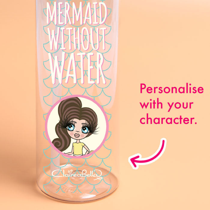 ClaireaBella Girls Mermaid Water Bottle