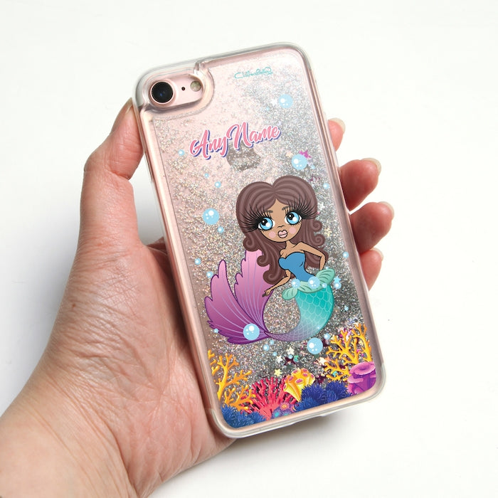 ClaireaBella Mermaid Liquid Glitter Phone Case - Silver - Image 1