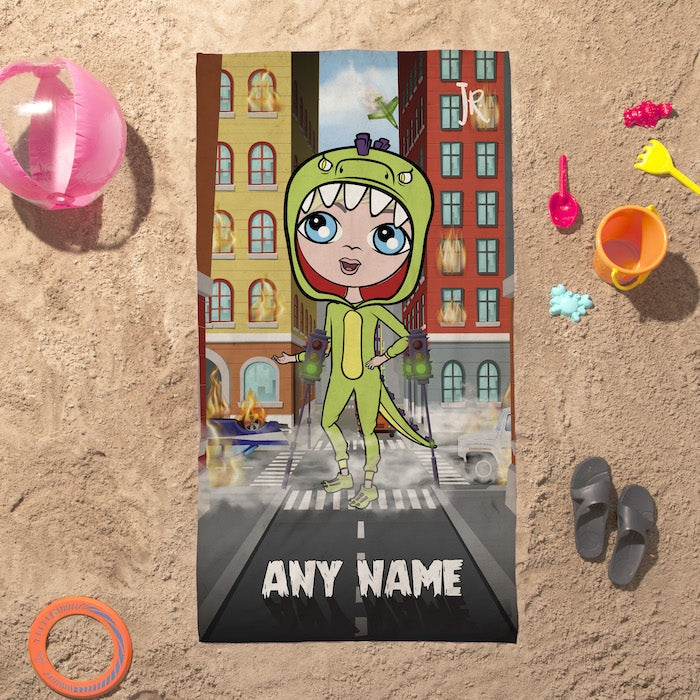 Jnr Boys Monster Mayhem Beach Towel - Image 1