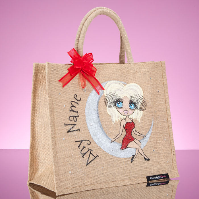ClaireaBella Large Love You To The Moon Jute Bag - Image 2