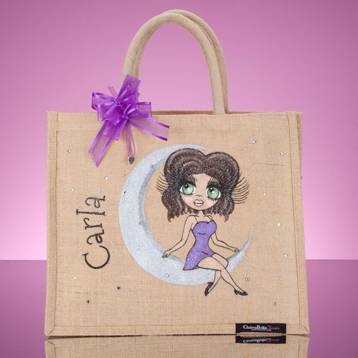 ClaireaBella Large Love You To The Moon Jute Bag - Image 6