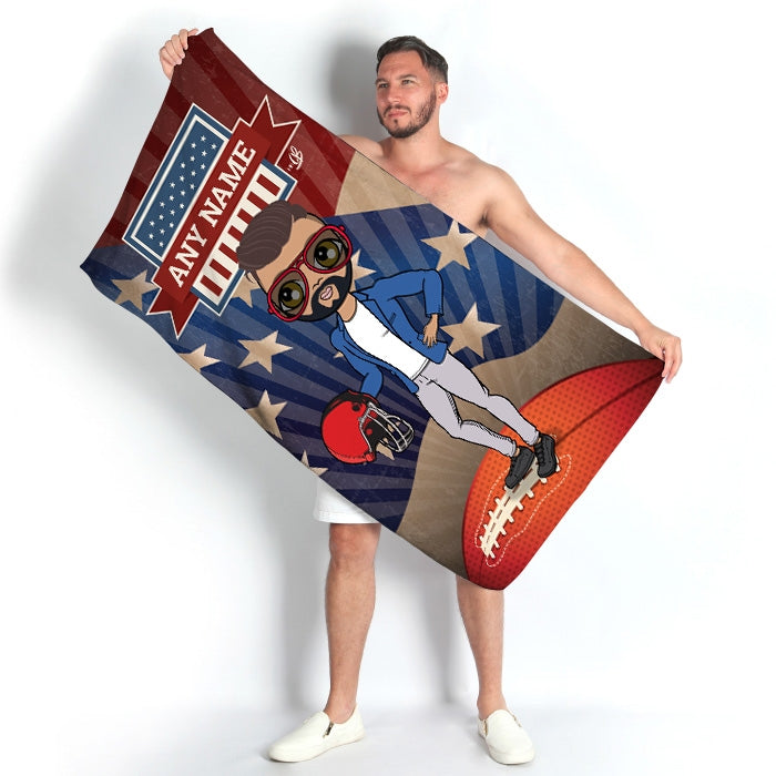 MrCB American Football Beach Towel - Image 1