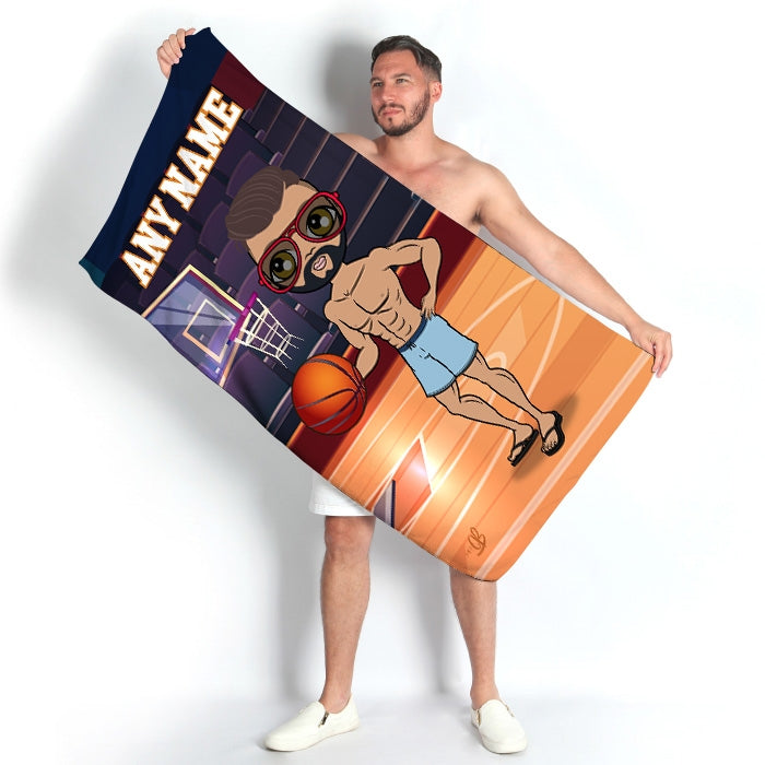 MrCB Basketball Beach Towel - Image 1