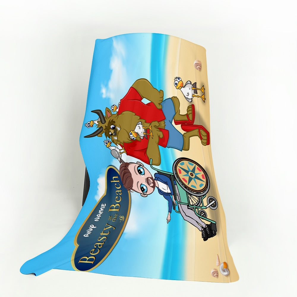 MrCB Beauty and The Beach Wheelchair Fleece Blanket - Image 1